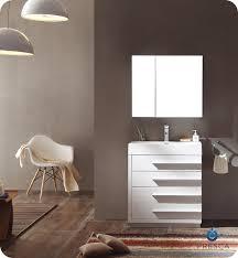 Modern Bathroom Medicine Cabinet Fresca Fvn8030wh Livello 30 Modern Bathroom Vanity With Medicine