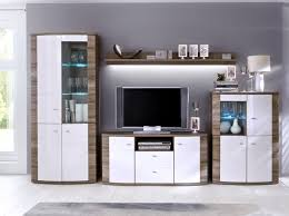 Kaunas Living Room Furniture Set In White Gloss Front And - Oak living room sets
