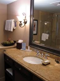 Bathroom Vanity Countertops Ideas Bathroom Cozy Bathroom Design Ideas With Dark Brown Wood Double