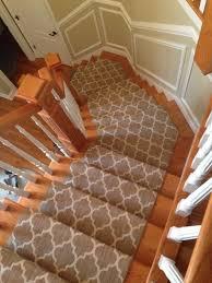 wooden stair with carpet runner installing a carpet runner in an