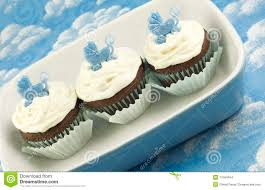 baby shower cupcakes for boy stock images image 11564454