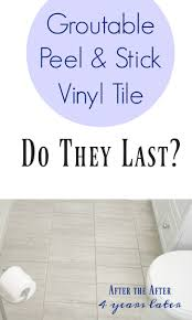 how to install peel and stick vinyl tile that you can grout