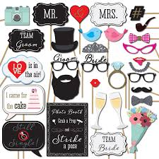 Wedding Photo Booth Props Amazon Com Photobooth Props Home U0026 Kitchen