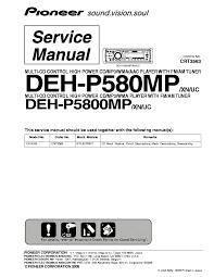 pioneer deh p580mp deh p5800mp sm service manual download