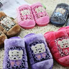 Bedroom Shoes For Womens Winter Mens And Womens Bear Cute Warm House Shoes Comfortable