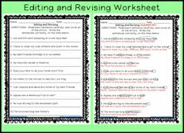 revising and editing sentences printable worksheet by workaholic nbct