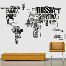 90 60cm sticker english letter world map style removable pvc 90 60cm sticker english letter world map style removable pvc wall stickers water resistant home art decals living room bedroom in wall stickers from home