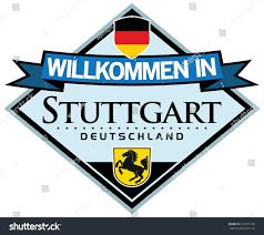 stuttgart logo welcome stuttgart sticker german language stock vector 310591340