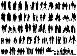free silhouette images group of people vector silhouette free vector files 365psd com