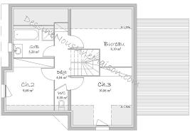 plan maison etage 4 chambres 1 bureau plans de pavillons avec étage ou combles aménagés 2