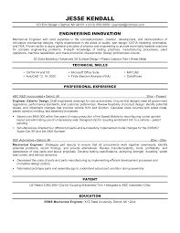 Sample Resume Engineering by Download Licensed Mechanical Engineer Sample Resume