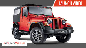 jeep maroon color 2015 new mahindra thar launch and first look cardekho com