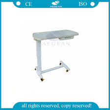 hospital bed tray table china ag obt009 with one small drawer height adjustable abs hospital