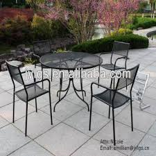 Mesh Patio Table House 5 Metal Mesh Patio And Garden Dining Table Set With