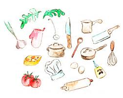 cuisine illustration kitchen illustration etsy