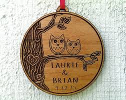 newlywed ornament owl birds
