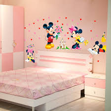 decoration chambre minnie mickey minnie mouse baby home decals wall stickers for