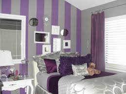 gorgeous girls bedroom decorating ideas with purple wall paint