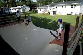 Backyard Skateboard Ramps Building A Backyard Skate Ramp Habitat Kids Vt Small People