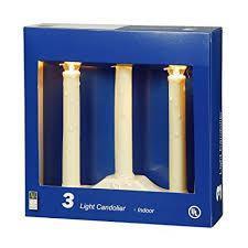 9 5 single light ivory candolier christmas indoor candle l vickerman 3 light ivory candolier 36 inch lead amazon ca home