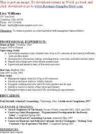 hotel security resumes examples hairstylist resume examples 62 images hair stylist resume