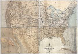 Large Map Of United States by Large Scale Detailed Old Military Map Of The United States 1869