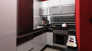 kitchen wonderful small modern kitchen design with red lacquered