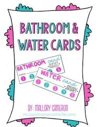 bathroom pass ideas 93 best managing bathroom trips images on classroom
