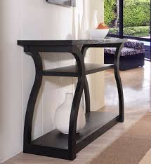 Modern Entry Table by Console Table Black Modern Curved Wood Entry Hallway Office Lobby