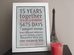 15 year anniversary gift ideas for him anniversary gift ideas home design 15 year wedding