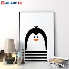 2017 nordic modern minimalism cartoon penguin wall art prints