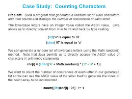 Count Characters In Access Chapter 6 Arrays And Array Lists Ppt