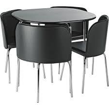 Buy Hygena Amparo Dining Table   Chairs Black At Argoscouk - Argos kitchen tables