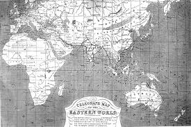 Eastern World Map by Distant Writing Telegraph Maps