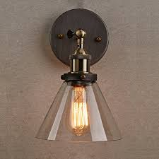 Edison Wall Sconce Ecopower Industrial Edison Antique Glass 1 Light Wall Sconces
