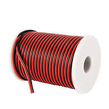 c able 100ft 18 awg gauge electrical wire hookup red black copper