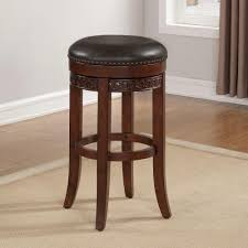 Counter Stool Backless American Woodcrafters Conrad 26 In Cherry Backless Swivel Counter