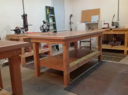 how to build a work table mdf rv 8 builders log blog work tables are complete