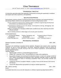Internship Resume Template Word Fascinating Software Developer Intern Resume 71 For Resume