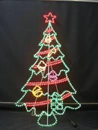 Christmas Rope Light Outdoor by 4 U0027 Pre Lit Peppermint Twist Swirl Rope Light Outdoor Yard Art
