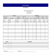 production report template
