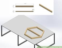 Plans To Build A Hexagon Picnic Table by Hexagon Picnic Tables Fpudining