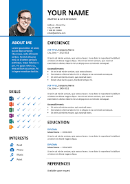 Colorful Resume Templates Free Bayview Stylish Resume Template