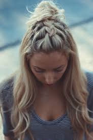on the fence braided top knots french braid and hair inspo