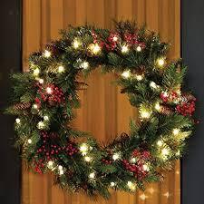 diy pre lit artificial wreaths ideas cordless led pre