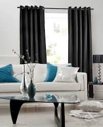 Black And White Modern Curtains Living Room Suede Black Curtains For Living Room Ideas With Nice