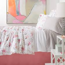 flamingos duvet cover pine cone hill