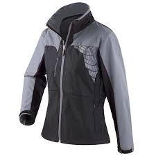black cycling jacket ladies women spiro team 3 layer softshell reflective cycling