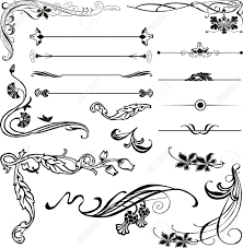 12718637 nouveau ornament corners and dividers stock vector