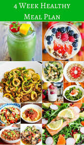 4 week healthy eating meal plan jeanette u0027s healthy living